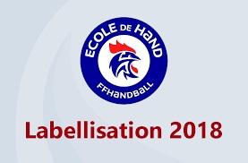 Label ecole de hand 2018
